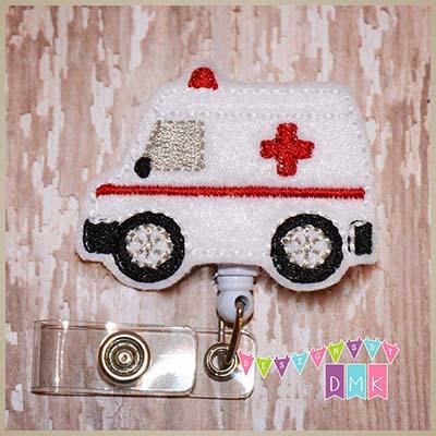Ambulance Felt Badge Reel