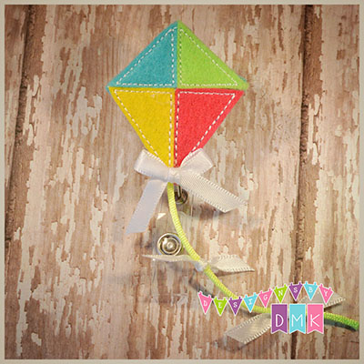 Brite Colored Kite Felt Badge Reel