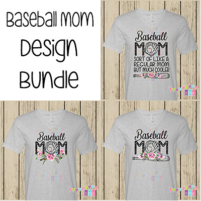 Baseball Mom Poppies BUNDLE