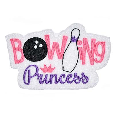 Bowling Princess Oversized Feltie Embroidery File