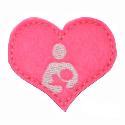 Breastfeeding Symbol Heart Embroidery File