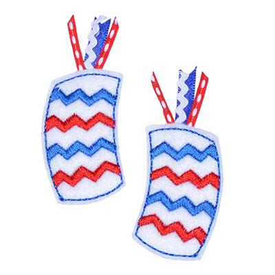 Chevron Firecracker Embroidery File