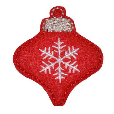 Christmas Ornament Teardrop Embroidery File