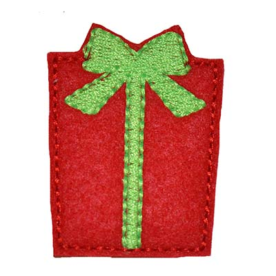 Christmas Present with Bow Embroidery File