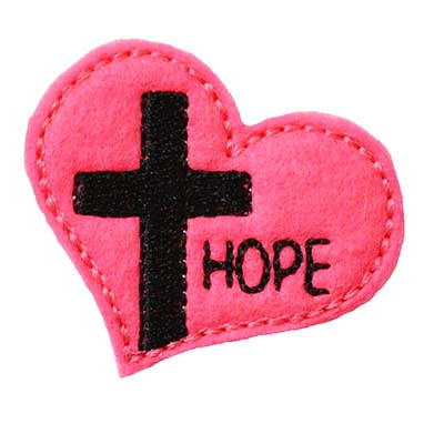 Cross on Heart HOPE Embroidery File