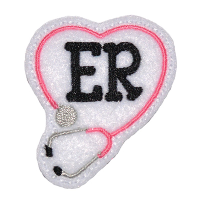 ER Stethoscope Heart Embroidery File