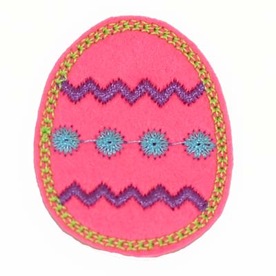 Brite Pink Chevron Easter Egg