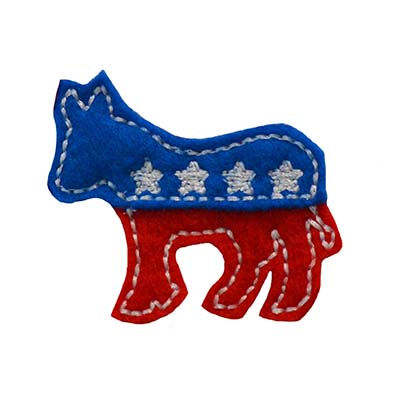 Election Donkey Embroidery File
