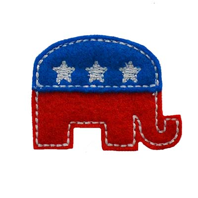 Election Elephant Embroidery File