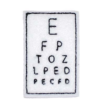 Eye Chart Embroidery File