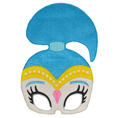 Genie Girl Blue Mask Embroidery File