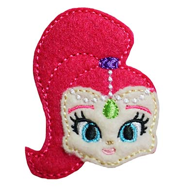 Genie Girl Pink Embroidery File