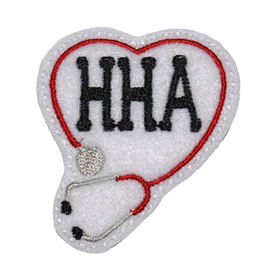 HHA Stethoscope Heart Embroidery File