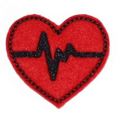 EKG Heart Embroidery File