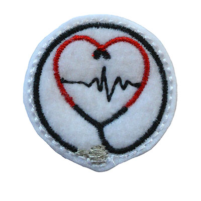 Heart Stethoscope Circle Embroidery File