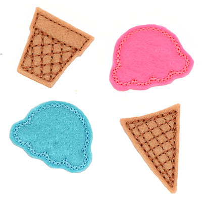 Build Your Own Ice Cream Cones Embroidery File