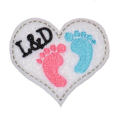 L&D Heart Embroidery File
