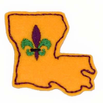 Louisiana Fleur Embroidery File