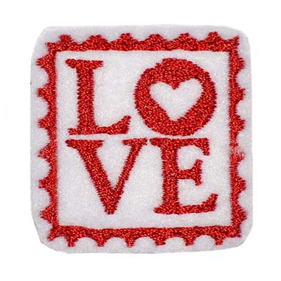 Love Stamp Embroidery File