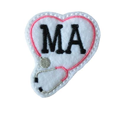 MA Stethoscope Heart Embroidery File