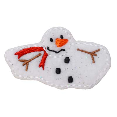 Melting Snowman Embroidery File