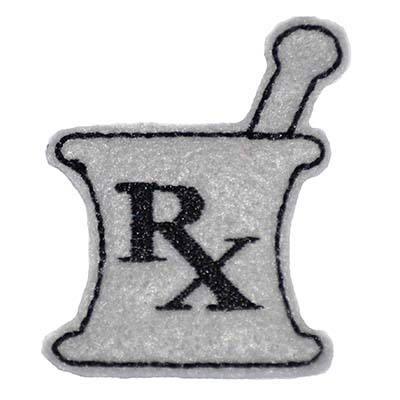 RX Mortar and Pestle Embroidery File