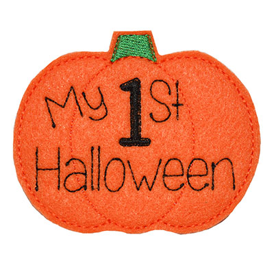 My 1st Halloween Embroidery File