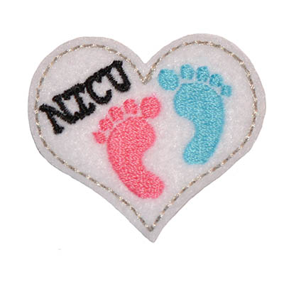 NICU Heart Embroidery File