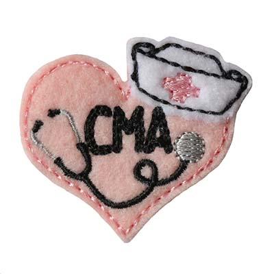 Nurse Stethoscope Heart CMA Embroidery File