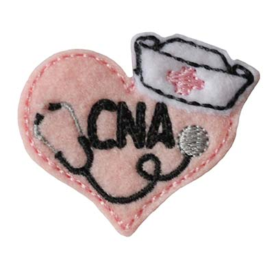 Nurse Stethoscope Heart CNA Embroidery File