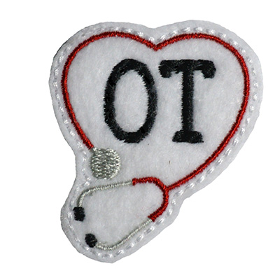 OT Stethoscope Heart Embroidery File
