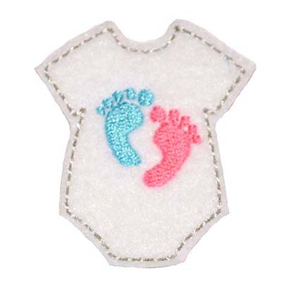 Baby Feet Onesie Embroidery File
