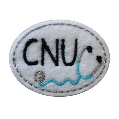 CNU Oval Stethoscope Embroidery File