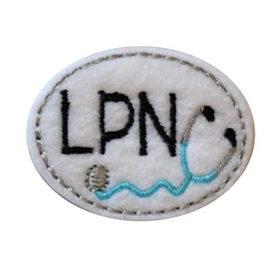 LPN Oval Stethoscope Embroidery File