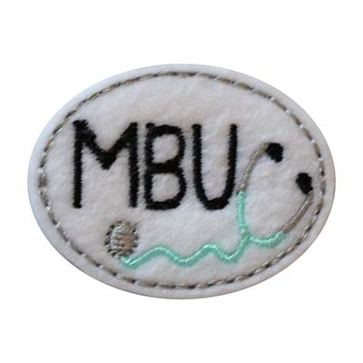 MBU Oval Stethoscope Embroidery File