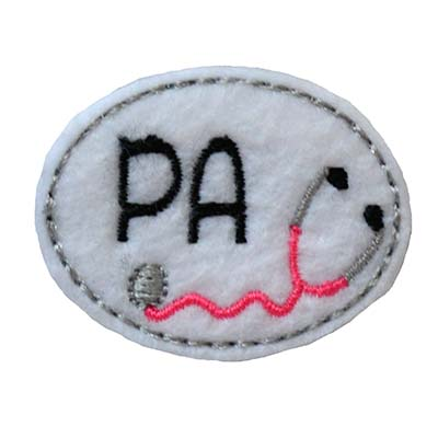 PA Oval Stethoscope Embroidery File
