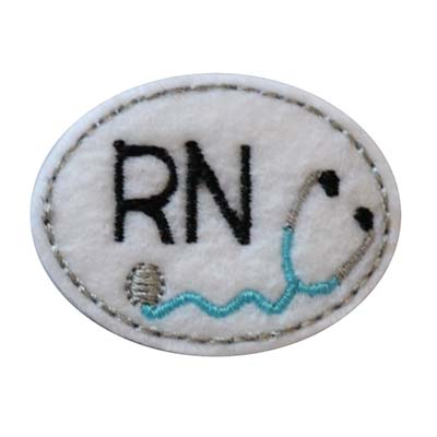 RN Oval Stethoscope Embroidery File