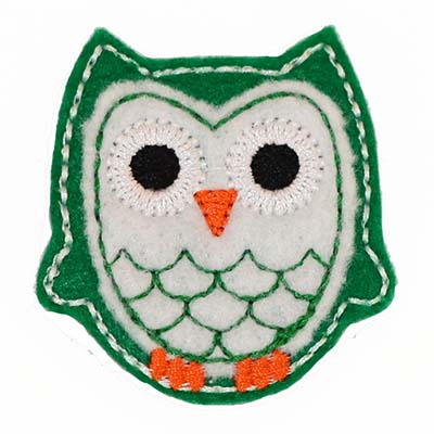 Owl - Green/White