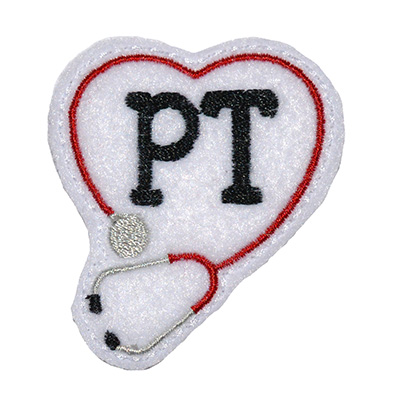 PT Stethoscope Heart Embroidery File