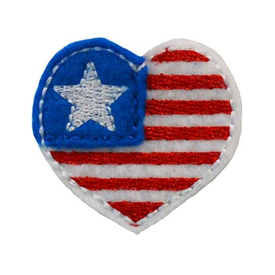Patriotic Heart Embroidery File