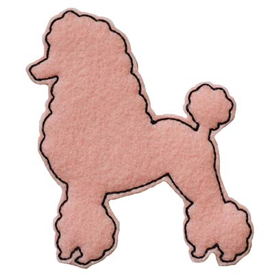 Poodle Outline Embroidery File