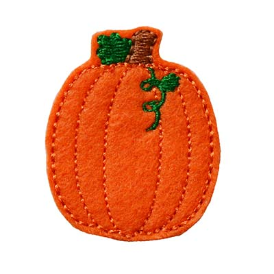 Pumpkin with Vine TALL Embroidery File