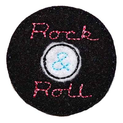 Rock and Roll Record Embroidery File