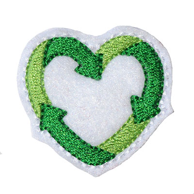 Recycle Heart Embroidery File