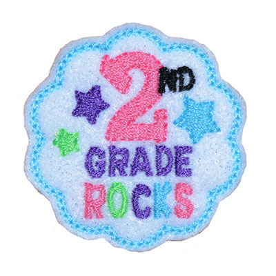 School Rocks 2nd Grade Embroidery File