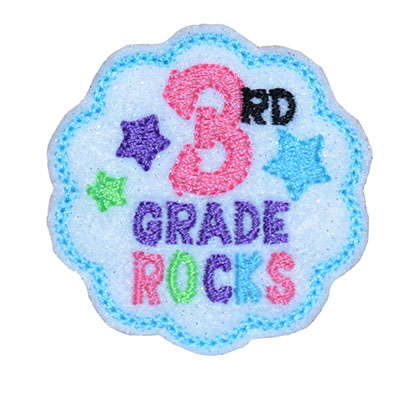 School Rocks 3rd Grade Embroidery File
