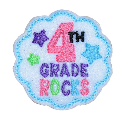 School Rocks 4th Grade Embroidery File