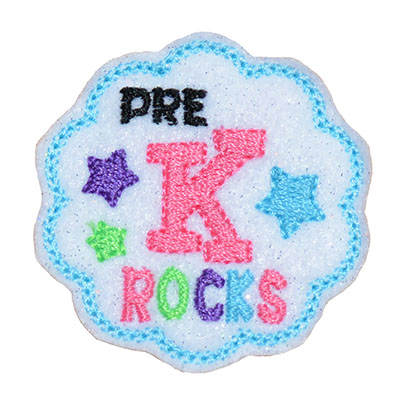 School Rocks Pre K Embroidery File