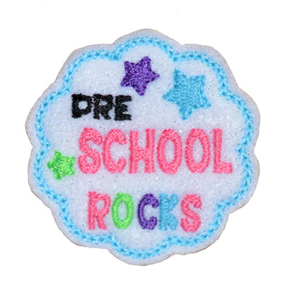 School Rocks Pre School Embroidery File