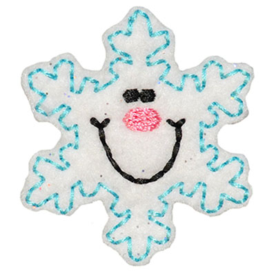 Smiling Snowflake Embroidery File